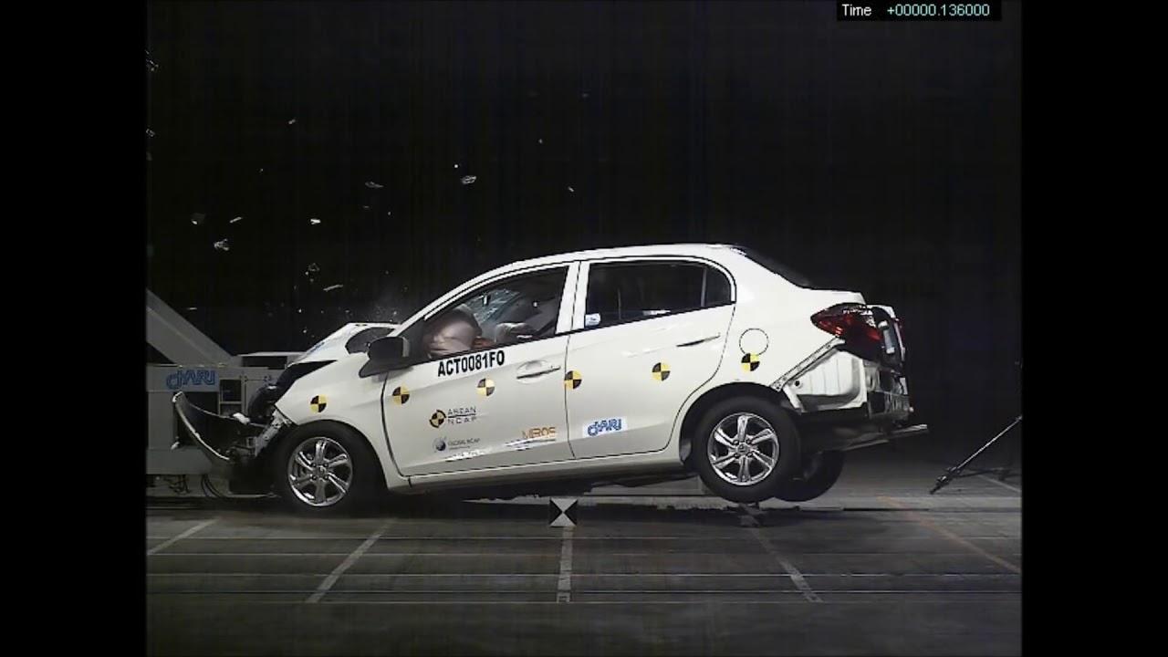 honda amaze crash test